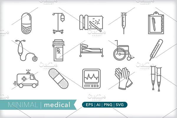 Download Minimal medical icons