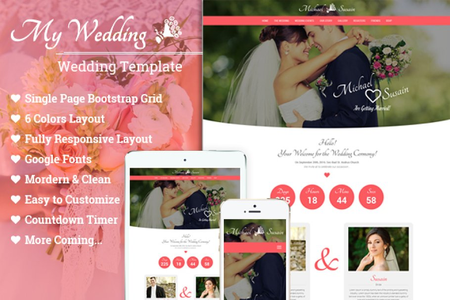 Download Wedding - One Page Template