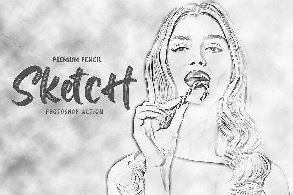 Download Pencil Sketch Photoshop Action
