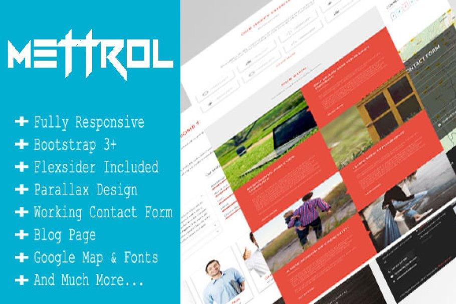 Download Mettrol - Responsive Portfolio Theme