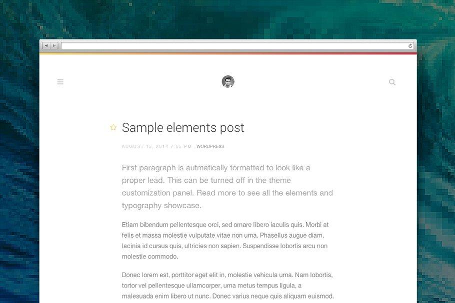 Download Type Wordpress theme