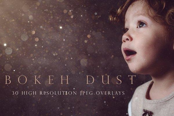 Download Bokeh dust photographic overlays