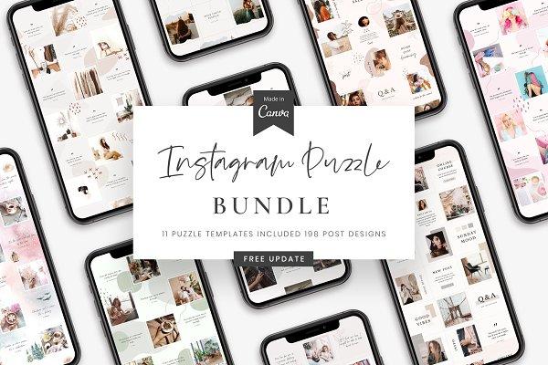 Download Instagram Puzzle Bundle - Canva