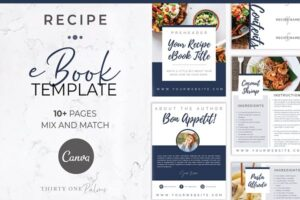 Download Recipe eBook Template for Canva