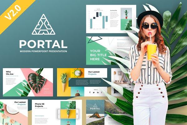 Download Portal Modern Powerpoint Template