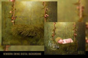 Download Digital Backdrop Newborn Baby Swing
