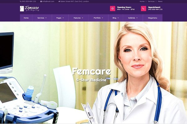 Download Femcare - Gynecology WP Theme