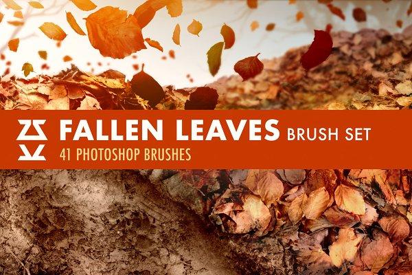 Download Fallen Leaves Brush Set