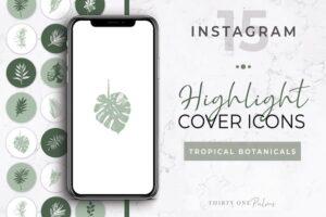 Download Botanical Instagram Highlight Icons