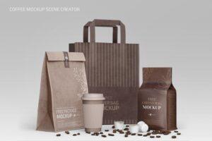 Download Coffee Mockup Scene Creator