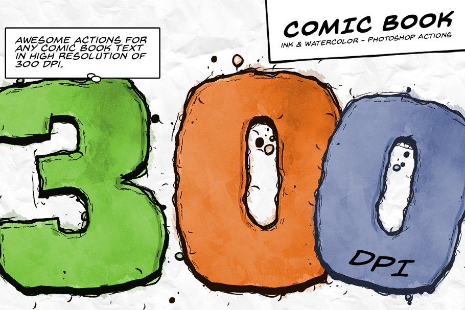Download Comic Book Ink Actions - 300 DPI