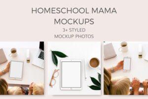 Download Homeschool Mama Mockups (9 Images)