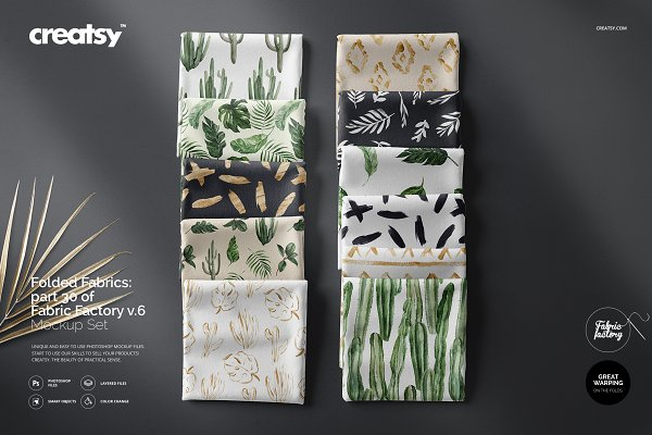 Download Folded Fabrics Mockup 30/FF v.6