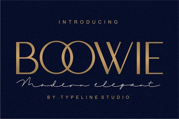 Download Boowie || Modern minimalist elegant.