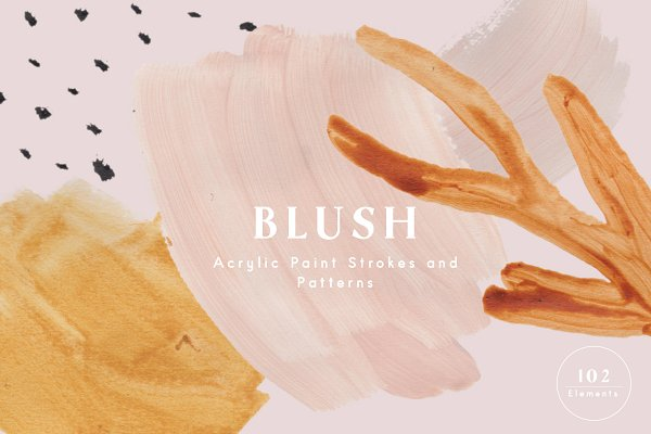 Download Blush Acrylic Paint Strokes