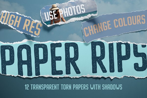 Download 12 Isolated Paper Rips