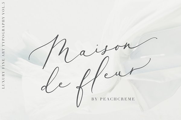 Download Maison de fleur //Luxury Script Font