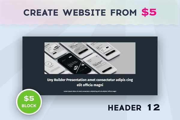 Download Uny Builder Blocks - Header 12