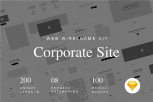 Download Web Wireframe Kit for Corporate Site