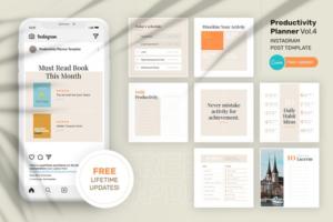 Download Productivity Planner Instagram Canva