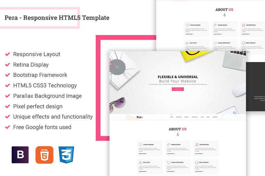 Download Pera - Responsive HTML5 Template