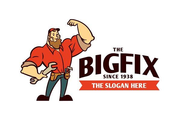Download Muscular Handyman Logo