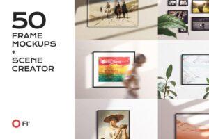 Download 50 frame mockup bundle creator kit