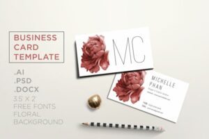 Download Floral business card
