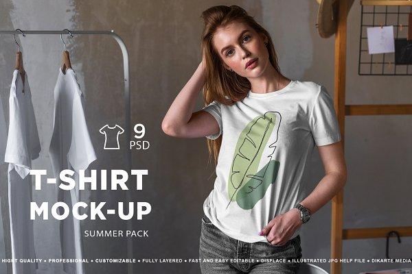 Download T-Shirt Mock-Up Summer Pack