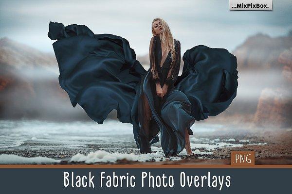 Download Black Fabric Photo Overlays
