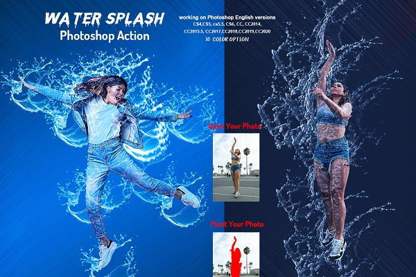 Download Water Splash Photoshop Action