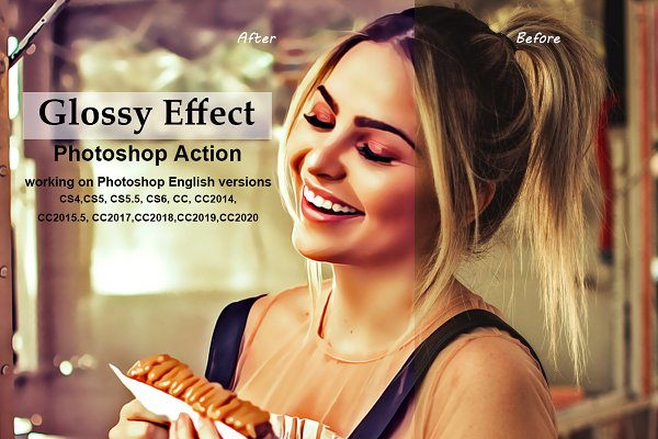 Download Glossy Effect Photoshop Action