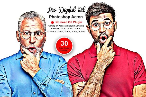 Download Pro Digital Oil Photoshop Action
