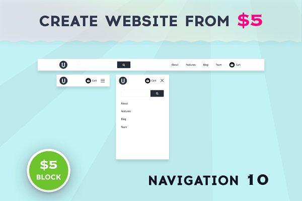 Download Uny Builder Blocks - Navigation 10