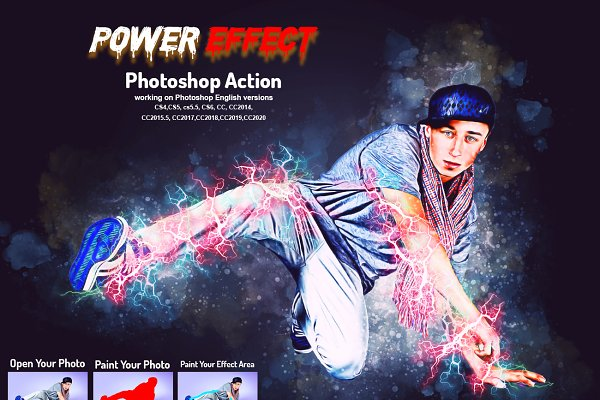Download Power Effect Photoshop Action