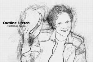 Download Outline Sketch Photoshop Action