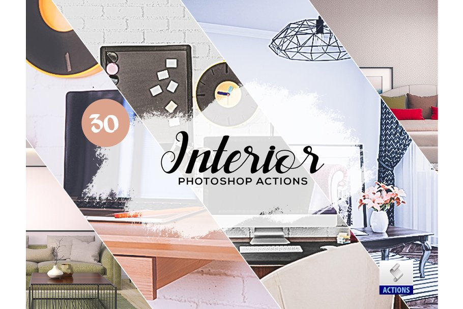 Download 30 Interior Photoshop Actions