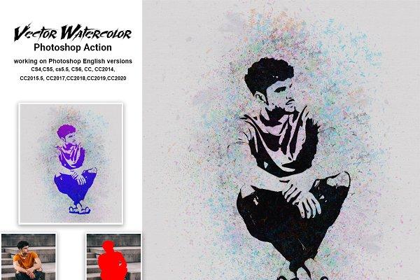 Download Vector Watercolor Photoshop Action