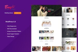 Download BNG   Wedding Agency WordPress Theme