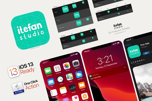 Download iOS 13 App Icon Template