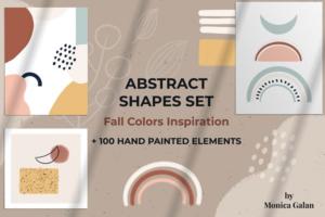 Download Abstract Shapes Set - Blush Caramel