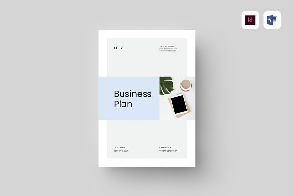 Download Business Plan   MS Word & Indesign