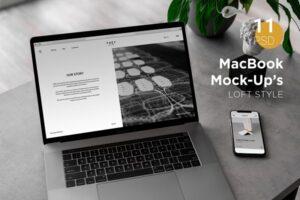 Download MacBook Pro Mock-Up Loft Style