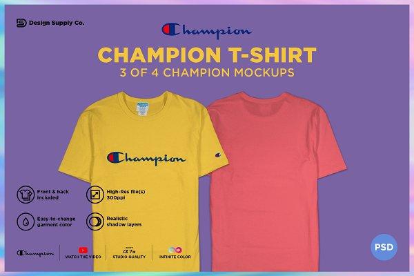 Download Champion T-Shirt Mockup