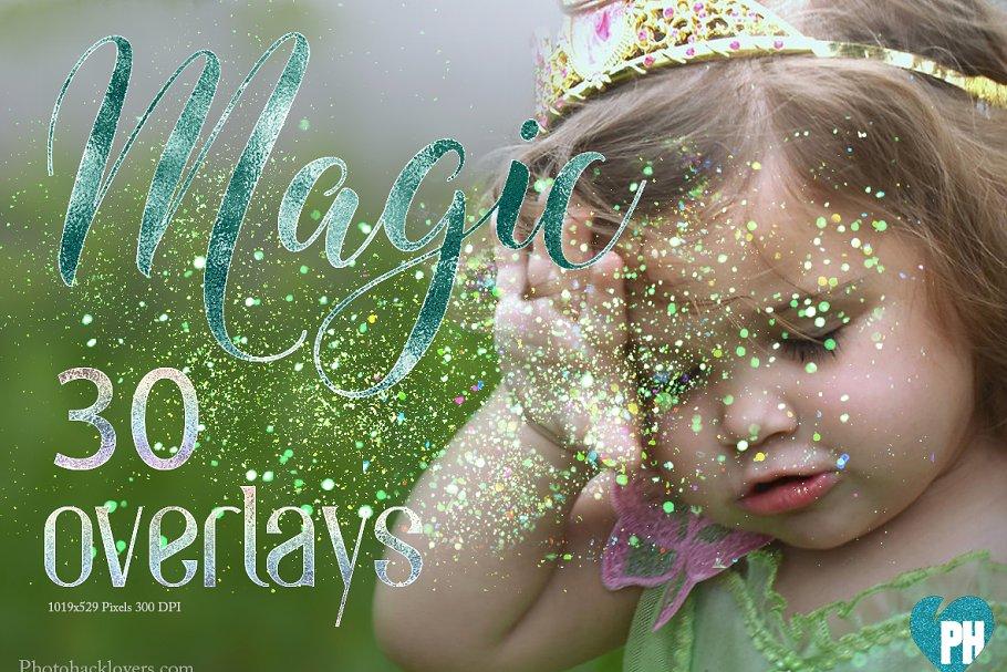 Download 30 Magic Glitter EFFECT Overlays