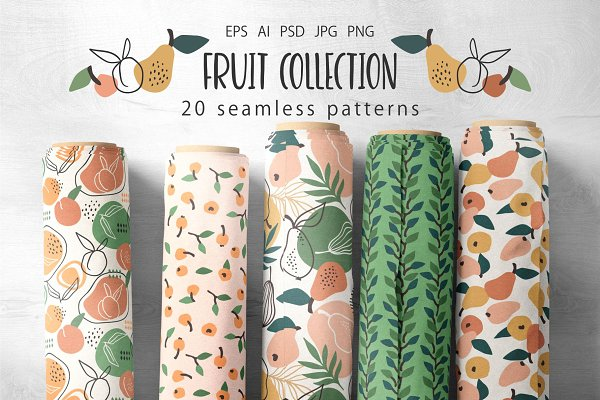 Download Fruit collection. 20 patterns.