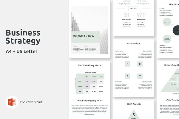 Download A4 Business Strategy PowerPoint