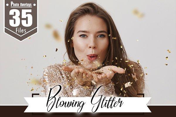 Download 35 Glitter Effect Photo Overlays