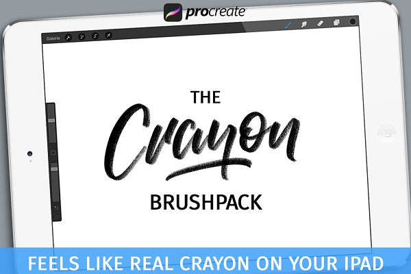 Download Crayon Brushpack for Procreate App