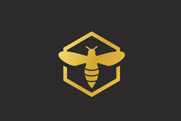 Download Creative Bee Ilustration Logo Design